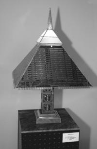"""A lamp from David Martin's """"UnEarth"""" Exhibit at the Brandon Artists Guild."""