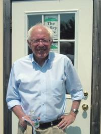 Congressman Bernie Sanders brought his U.S. Senate Campaign to Middlebury on Tuesday August 1, '06 including a stop at The Valley Voice for an exclusive 40-minute interview.