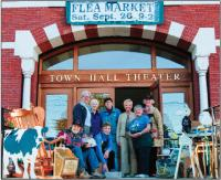 Last year's hardworking team from Town Hall Theater's Fabulous Flew Market, which will be held this year on Saturday, September 18, from 9am until 2pm.   To make a donation, sign up as a vendor, or make an inquiry, call 388-8268.