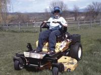 Kyle starts the countdown to mowing season in March and can't wait to mow his family acre into precise rows!