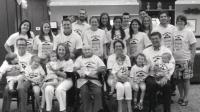 Looking at 95 is not so daunting when you have a large family to show for it, according to Bill Della Penta. Shown here at a recent family reunion. Front row: Ron Dykes, Jameson Dykes, Maddie Dykes, Olivia Dykes, Tira Dykes, Bill Della Penta, Marian Connor, Della Connor, Colby Connor, Paul Connor and Ryan Connor. Second Row: Brandi Dykes, Michelle Dykes Matthew Dykes, Lauren Connor, Samantha Connor, Susan Connor, Brooke Connor, John Connor and Rachel Connor. Third Row: Lilly Connor, Peter Connor, Erin Connor, Ryan Woodward, and Travis Warech.