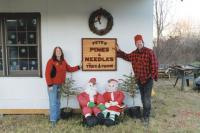 Choosing the right Christmas Tree at Pete's Pines and Needles Tree Farm is an experience for the whole family. Fran O'Connell and Peter Guendel are ready and waiting to see you seven days a week from now until Christmas Eve Day.
