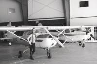 While learning to fly the Cessna 152, Erin was one of 18 students in the fledgling year of the VT Tech and Flight Academy Aviation Bachelors of Science Program. Her typical day includes flight training, ground instruction, flying time, meteorology and a full course load at the VTC Williston Campus. Erin is the youngest member of the program and the only high school senior. She is dually enrolled in high school and college.
