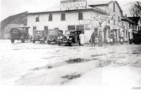 Cartmell's Garage in 1928 a local favorite. Pictured above Gladys Cartmell Brown near John Phillips 1927 Buick.