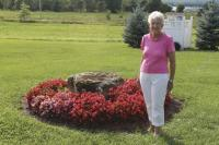 Gardening at her Addison County home is just one way Betty keeps connected to the land and very busy.