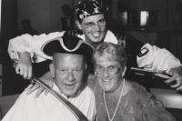 Celebrating her 50th anniversary with husband John aboard a cruise ship, Betty shares a smile and memory of her husband of almost sixty yea