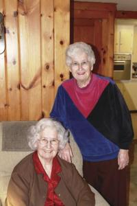 Twin sisters Cecile ( Quesnel) Lawrence and Lucille ( Quesnel) Skeffington love the holidays and share traditions including card games, box socials and just being with family.