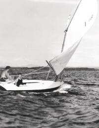 Wally and  Betty loved the lake and sailing was always a favorite of the couple.