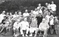 At a 2013 Shonnard Fest, four generations came together to enjoy each other and summer in Vermont and the lake. Front row L-R Son-on-law Lee, Wally, Betty and Betty's brother John Child.