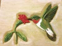Painted by daughter Lynn, Raymond's carvings come to life and celebrate nature!
