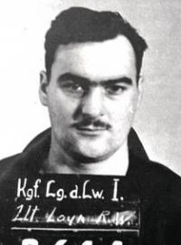 This was Roger's Prisoner of War mugshot while he was in the German prisoner of  War camp during World War II.