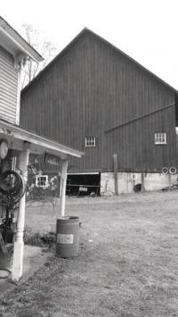 One of the barns that Tim Fitz-Gerald kept full of antiques to entice the visitor and collector.