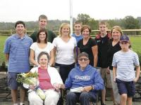 The Guyette family gathered to celebrate the dedication of the VUHS athletic fields to Roland.