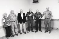 Gathered in Middlebury, the brothers and sister Edith celebrated five of them in their 80's!