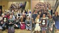 Left: Commodore Band Takes Gold at Music Contest. Right: VUHS Chorus Earns a Silver rating at the Philadelphia Music Festival.