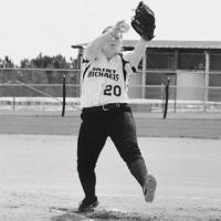 Dani pitching.
