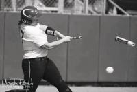 Tamara's hard hitting broke a steel bat this season.