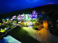 Capturing those magical summer nights of Addison County Field Days from the air!