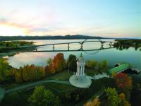 The Lake Champlain Bridge and Champlain Memorial Lighthouse from a definitely different perspective.